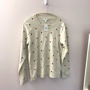 Embroidered heart Teddie sweater